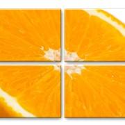 """Модульная картина """"Апельсин"""" фото"""
