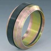 Режущее кольцо SRDO с кольцом круглого сечения.Норма DIN 3861, материал - сталь Защита поверхности -гальваническое цинкование, хроматирование (желтое) фото