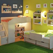 Детская комната Легенда 13 с полками венге светлый фото