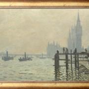 Картина Темза возле Вестминстера, Моне, Клод фото