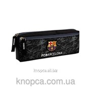 Пенал Kite 647 FC Barcelona 2 отделения Черный фото