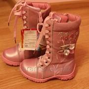 Зимние розовые сапоги для девочки Размер 29, 30 фото
