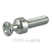 Дюбель проходной двухсторонний TI09 винт для стяжки пд., L=12мм, М4, сталь, цинковое покрытие фото