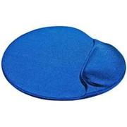 Коврик для мыши с матерчатым покрытием, гелевый Defender - Easy Work, валик под запястье - синий фото