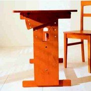 Парта, регулируемая деревянная фото