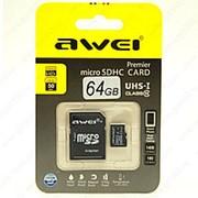 Awei MicroSD Card 64 гигабайта фото