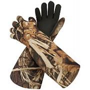 Перчатки универсальные для охоты на водоеме, водонепрониц.100%, неопрен, цвет Realtree Max-5, длина 50см., вес 265гр. фото