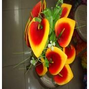 Цветок искусственный 12 цветков каллы Арт.055-1 фото