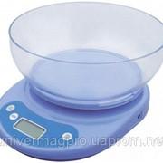 Кухонные весы с чашей до 5 кг (точность 1 грамм) фото