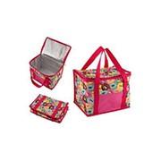 Термо-сумка. Объем: 13 л. Цвет: розовый. Рисунок: пончики фото
