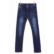 Оригинальные джинсы синего цвета на флисе прямые 24 фото