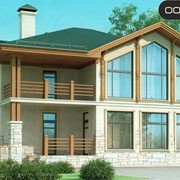 Проект комбинированного дома 37-22 фото