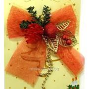 Бант текстильный рождественский GIF1659 фото