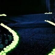 Люминесцентные камни для ландшафтного дизайна
