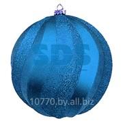 """Елочная фигура """"Шар Вихрь"""", 20 см, цвет синий фото"""