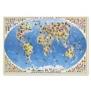 Настенная карта Страны и народы мира 101*69 см ламинированная фото