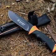 Нож с фиксированным клинком и огнивом Ganzo G8012-OR фото