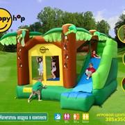 """Детский надувной батут Игровой центр """"Джунгли"""" с горкой 9164 фото"""