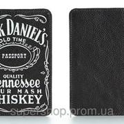Кожаная обложка на паспорт Jack Daniel's (Джек Дениелс) 156-155339 фото