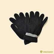 Перчатки п/ш черн (80% шерсти) фото