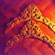 Фрагмент резного иконостаса. фото