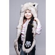 Зверошапка Полярный волчонок фото