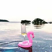 Надувной подстаканник Фламинго фото