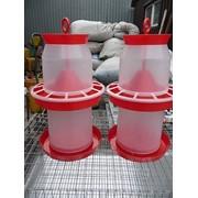 Комплект 2 Поилки 5 литров + 2 Кормушки 5 литров фото