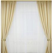 Шторы на окна молочного цвета фото