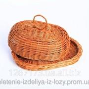 Хлебница плетеная из ивой лозы фото