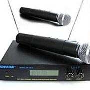 Радиомикрофон SHURE SM58. Вокальный радиомикрофон. фото