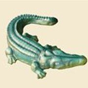 Скульптуры садовые Крокодил фото