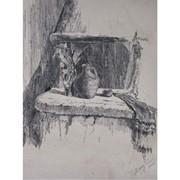 Графика тушь-перо 50,70 натюрморт фото