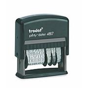 Датер с 12 бухгалтерскими терминами Trodat 4817, шрифт - 3,8 мм фото