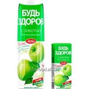 """Нектар с мякотью """"Будь здоров"""" яблочный, объем 1/0,2л фото"""
