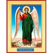 Храм Покрова Богородицы Ангел Хранитель, икона на сусальном золоте (дерево 2 см с ковчегом) Высота иконы 10 см фото