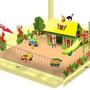 Детская площадка из отдельно стоящих элементов фото