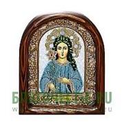 Дивеевские золотошвейные мастерские Трилетствуюшая Богородица, дивеевская икона ручной работы из бисера Высота иконы 17 см фото