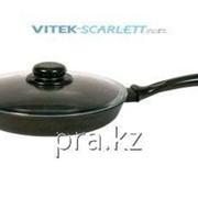 Сковорода литая а/п стеклянная крышка 240 мм, 2407ПС фото