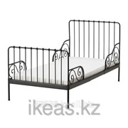 Каркас раздв кровати+реечн днище, черный МИННЕН фото
