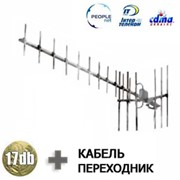 3G CDMA копмлект - антенна 17dB + адаптер + кабель фото