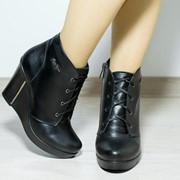 Женские демисезонные ботинки на платформе в моделях. ДС-23-0618 фото