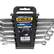 Ключи рожково-накидные 12шт 6-22мм CrV head polished sigma 6010201 фото
