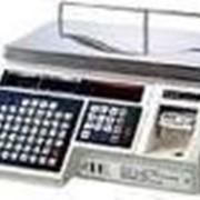 Весы торговые с чекопечатью cas lp15 б/у фото