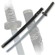 Меч самурайский сувенирный, ножны черные фото