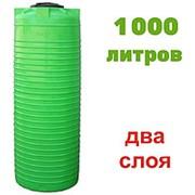 Резервуар для хранения гсм, питьевой воды и дизеля 1000 литров, зеленый, верт фото