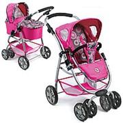 Коляска для кукол Bellina 2 в 1 Bayer Chic Hot Pink Pearls розовый жемчуг 87 фото