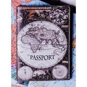 """Обложка на паспорт """"Карта мира"""" фото"""