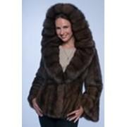 Куртка из баргузинского соболя с капюшоном фото