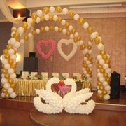 Оформление свадеб воздушными шарами фото